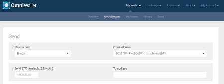 add cryptocurrencies to omni wallet
