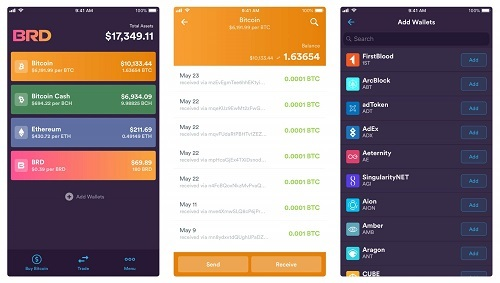add currencies bread wallet