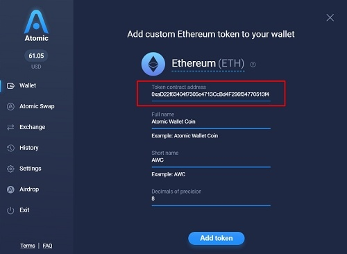 atomic wallet how to add currencies