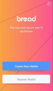 bread wallet create new wallet