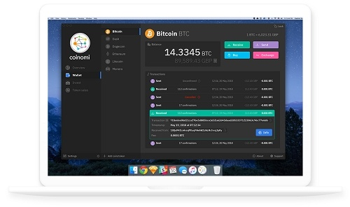 coinomi wallet created account