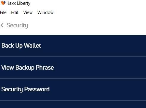 jaxx wallet security