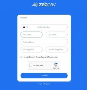 zebpay create a wallet