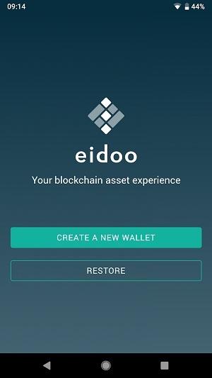 eidoo create new wallet