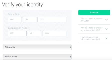 robinhood verify your identity