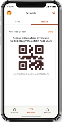 xapo wallet how to receive payments