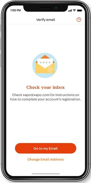 xapo wallet verify your account