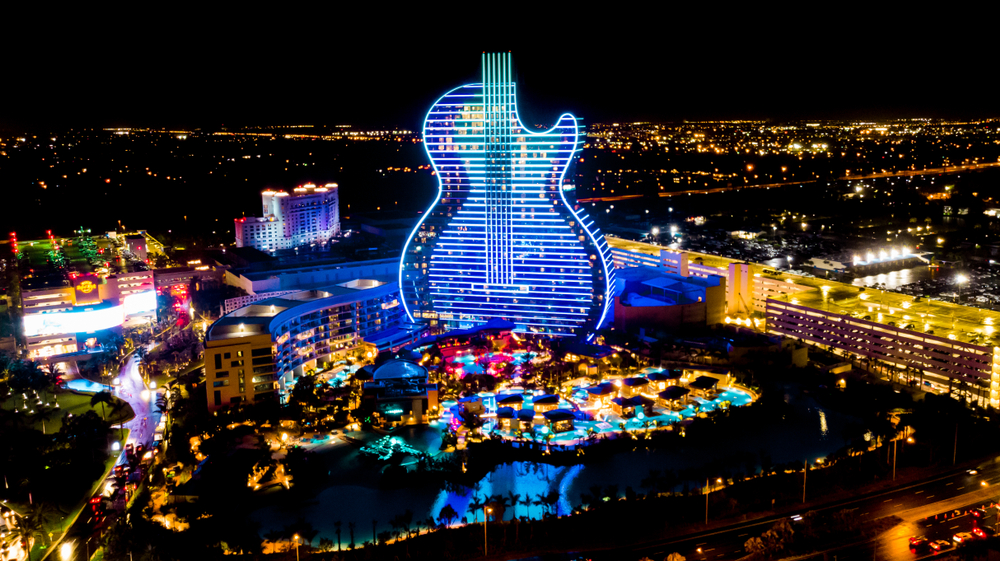 450-Feet Guitar Shaped Casino Hotel Debut