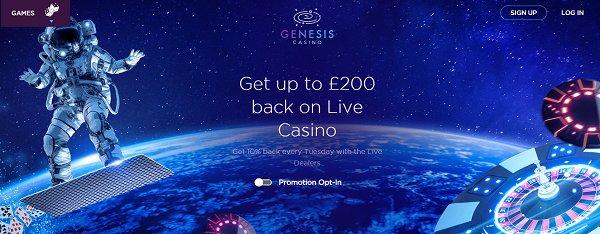 genesis casino live cashback