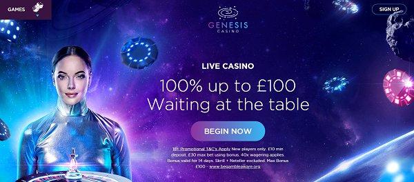 genesis casino live bonus