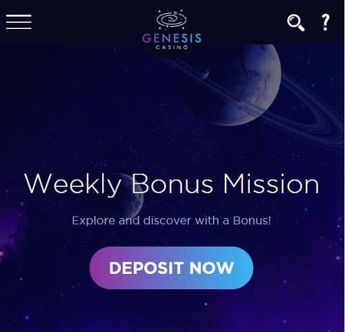 genesiscasino weekly bonus