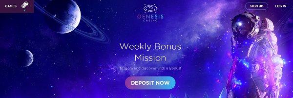 genesis casino weekly bonus