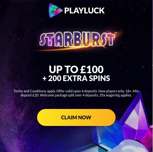 playluck casino welcome offer uk