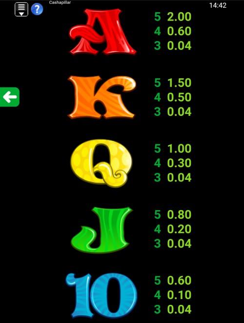 cashapillar symbols- mobile