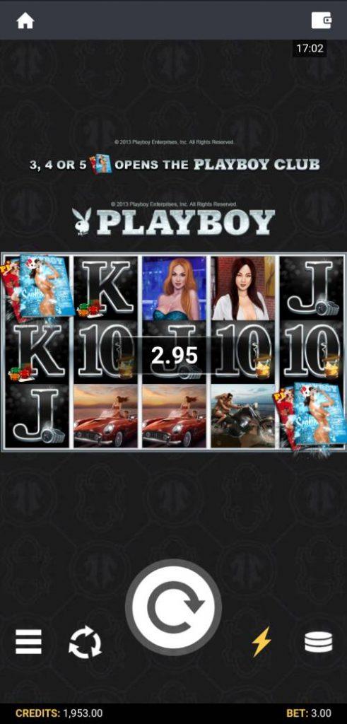 playboy slot scatter win screenshot mobile