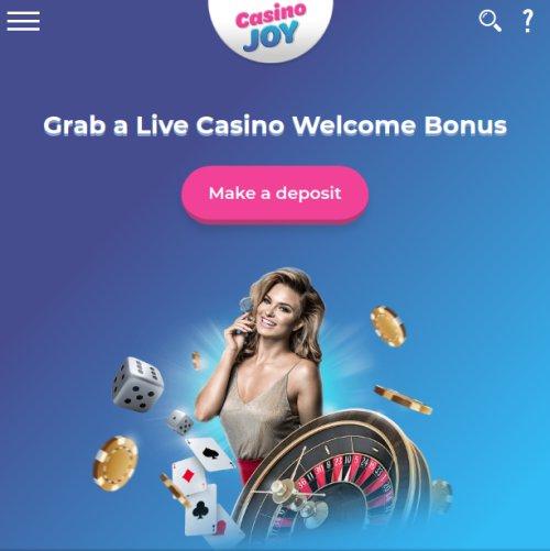 casino joy live welcome bonus