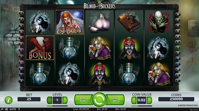blood suckers slot design