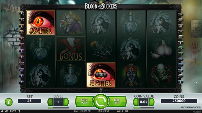 blood suckers slot features