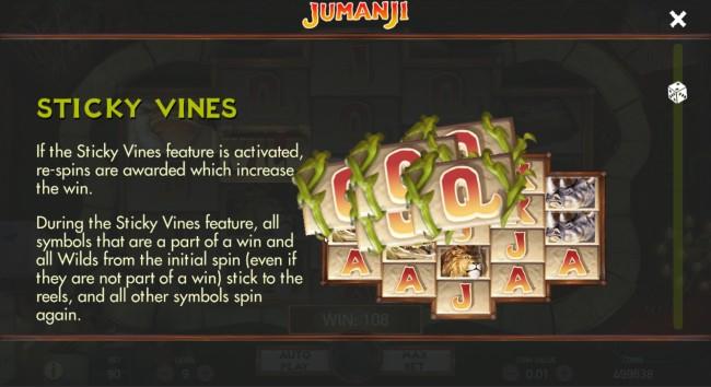 jumanji slot features