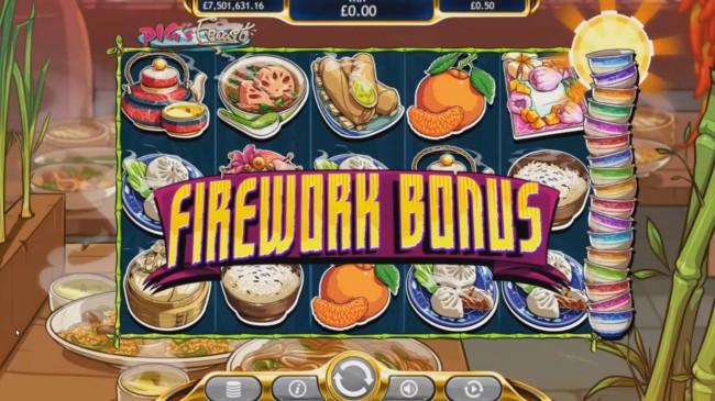 pig's feast firework bonus