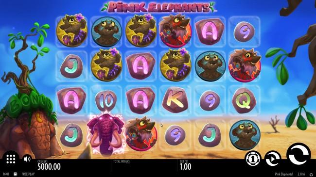 pink elephants slot design