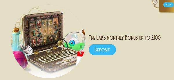 casinolab monthly bonus
