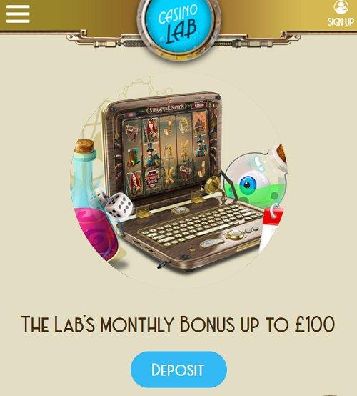casino lab monthly bonus