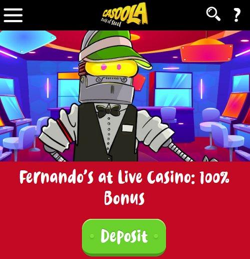 casoola casino live offer