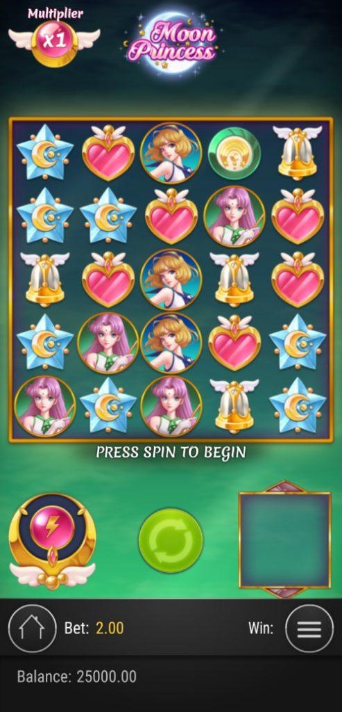 moon princess design mobile