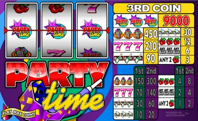 party time slot design