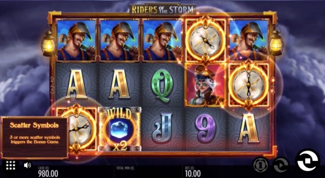 riders of the storm slot features