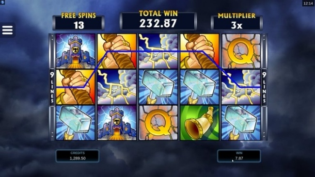 thunderstruck free spins feature