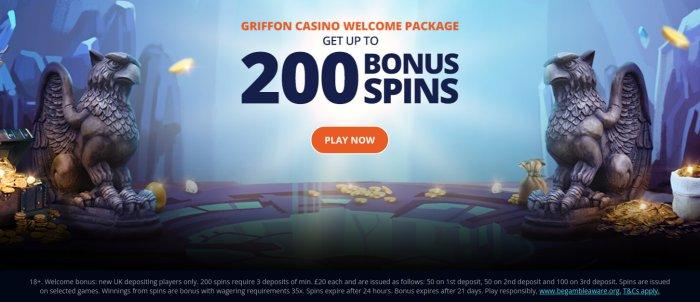 griffon casino welcome package uk