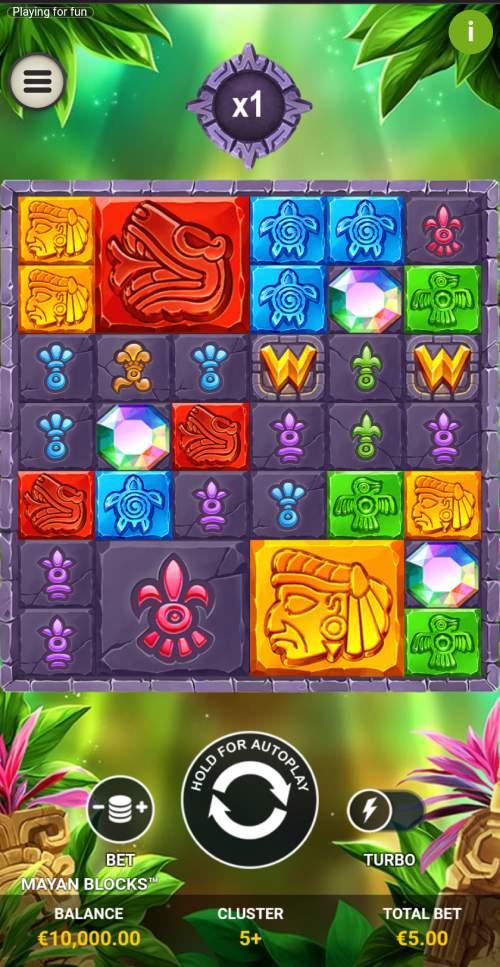 mayan blocks design mobile